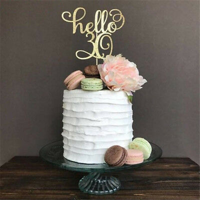 1Pc Gold Happy 30th 40 50 60 Wedding Birthday Party Cake