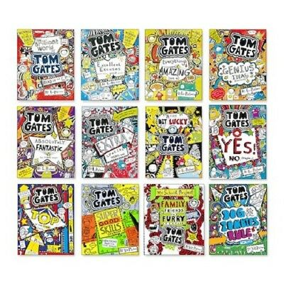 Tom Gates Collection x 12 Book Set of titles 1-12  - Brilliant World Brand New