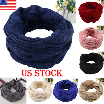 US Women Girl Candy Color Long Soft Kintted Neck Scarf Wrap Shawl Scarves