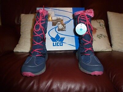 brand new 2dc6d ea039 LICO GIRLS FERNANDA Snow Boots, Blue (Marine/Pink),child uk ...