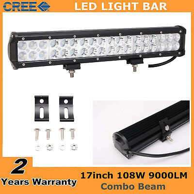 17inch 108W CREE Led Light Bar Spot Flood Fog Jeep Offroad Driving Work Lamp SUV