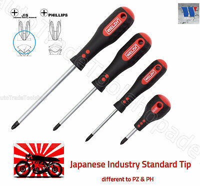 JIS Screwdriver Set 4pc Japanese Industrial Standard Screws Motorbikes WW7065