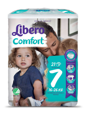 Libero Comfort Size 7 Nappies Large Child Special Needs 16 - 26 kgs  Pack of x21