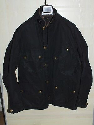 barbour international jacket waxed cotton  100%authentic c44/112 xl