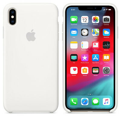 White GENUINE ORIGINAL Apple Silicone Case NEW iPhone XS RRP $39