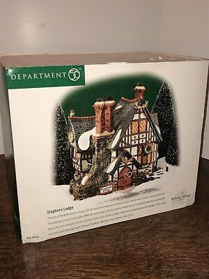 Department 56 Dickens Village - Staghorn Lodge 1999 NEW Retired