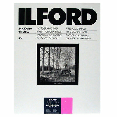 Ilford Multigrade IV RC Deluxe Photo Paper  - Glossy - 9.5x12 inches - 50 sheets