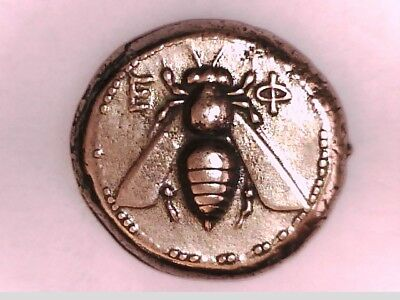 Goddess Artemis Greek Asia Ionia Ephesos Tetradrachm Bee Stag Silver Plated Coin