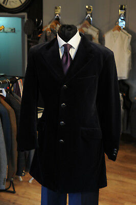 Mj-101K  Mens Black Prince Edward Velvet Jacket  Wedding/Evening/Event
