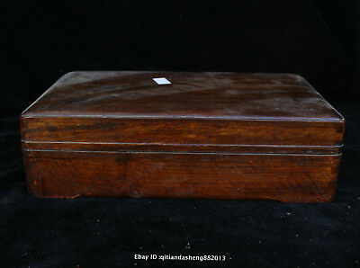 25CM Collect Chinese old Rosewood Handmade jewelry box wooden sculpture QFHK