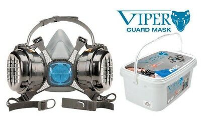 Iwata Viper Half Face Mask with + 2 Cartridge Filters In Small Carry Case