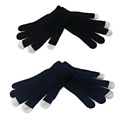 ADULTS Touchscreen Magic Gloves Stretch Winter Mens Black Ladies Womens Phone UK