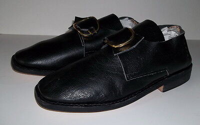 18th Century Colonial Mens Shoes w/Buckles(Size 8) French & Indian,Colonial-NEW