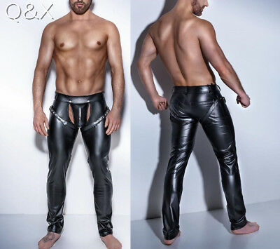 Mens PVC Wet Look Chaps, Trousers, clubwear, Stag night, pants Size S