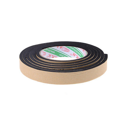 2M Black Single Side Self Adhesive Foam Tape Stickers 20mm Width x 5mm Thickn PD