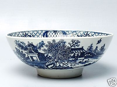 Antique Dr Wall Period Small Worcester Porcelain Punch / Fruit Bowl - English PC