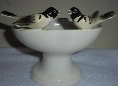 Antique vintage birdbath planter vase