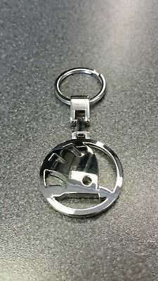 Skoda Chrome Emblem Keyring Genuine Skoda Product