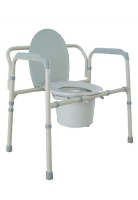Bariatric Folding Steel Commode Heavy Duty With 47 Stone Weight Limit