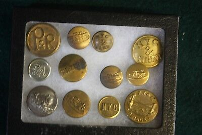 Vintage Railroad Collection Buttons