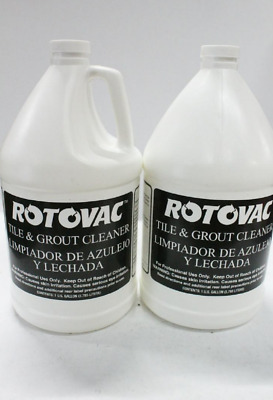 Lot of 2 Rotovac Tile & Grout Cleaner , 1 Gallon