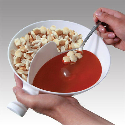 Cereal Bowl With Divider Portable Travel Slide No Soggy Dry Milk Obol Tool