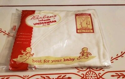 Rubens Baby Infant Underwear Undershirts Long Sleeve Cross Tie Vest 12 Months