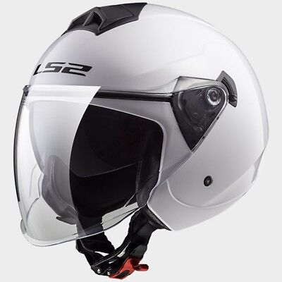 MCP 0002_305731002   LS2 CASCO JET TWISTER OF573 SOLID White - 305731002