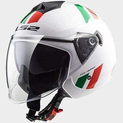 MCP 0002_305732102   LS2 CASCO JET TWISTER OF573 COMBO White Green Red - 3057321