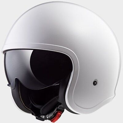 MCP 0002_305991002   LS2 CASCO JET SPITFIRE OF599 SOLID White - 305991002