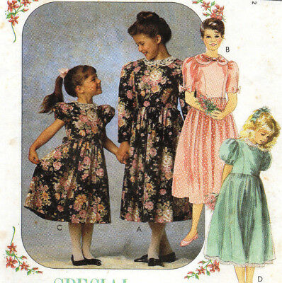 McCalls 5663 Special Moments Party Tea Semi Formal Girls Dress Pattern 4-5-6 UC