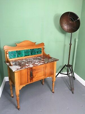An Antique Edwardian Satinwood Marble Topped Washstand ~Delivery Available~