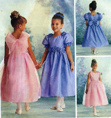 McCalls 9230 Special Moments Party Tea Formal Girls Dress Pattern 6-7-8 UC