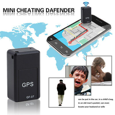 GF07 Mini GPS Real Time Car Locator Tracker Magnetic GSM/GPRS Tracking H8K4J