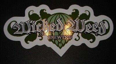 WICKED WEED BREWING Freak Of Nature Classic STICKER decal craft beer brewery
