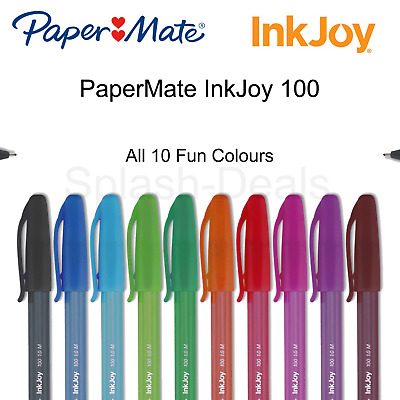 Papermate Inkjoy 100 Ballpoint Pens 1.0mm tip - Choose any fun colour & quantity