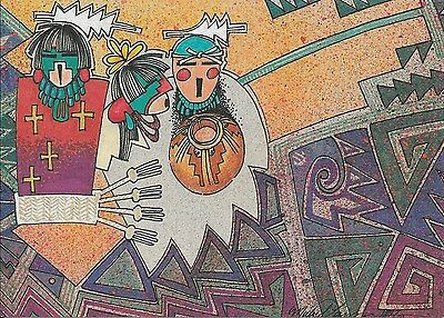 12 Native American Christmas Cards by Michael Lacapa (Three Wise Men)