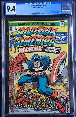 Captain America #193 1st Appearance of MadBomb 1976 CGC 9.4