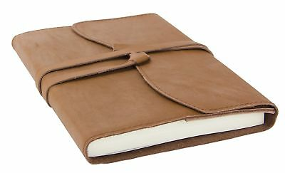 Red Co Classic Genuine Leather Journal, 5x7, 240 Lined Pages, Refillable, Brown