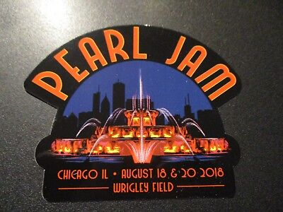 PEARL JAM Chicago Wrigley Field 2018 Fountain Sticker New not cd lp but COOL