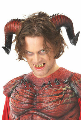 Brand New Devil Demon Horns with Teeth Halloween Costume Accessory