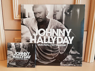 Vinyle + Cd Johnny Hallyday Mon Pays C'est L'amour Neuf Blister Blanc Collector