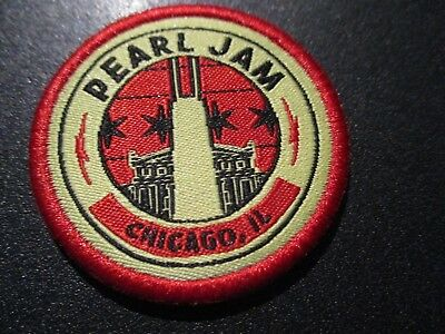 PEARL JAM Embroidered Iron-on Patch WRIGLEY FIELD CHICAGO 2018 Away Show