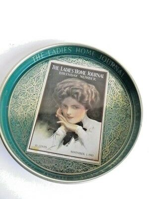 Large Metal Tray The Ladie's Journal Birthday Number Harrison Fisher Nov.1910