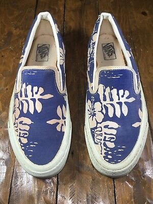 51597074c48 Rare Vintage 1980s VANS Hawaiian Hibiscus Flower Sneakers MADE IN USA Shoes  11US
