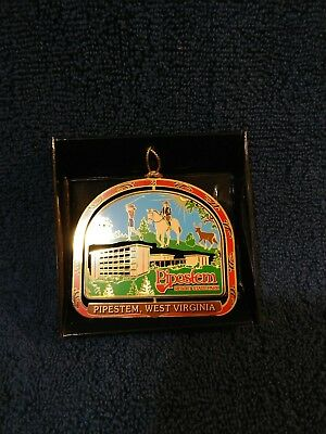 National Treasures West Virginia State Park  Brass Christmas ORNAMENT