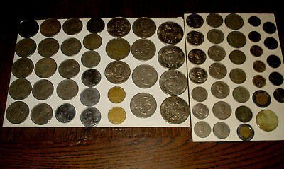 Mixed Mexican Coin Lot 67 Coins * Pesos & Centavos 1950's,60's,70's and 80's