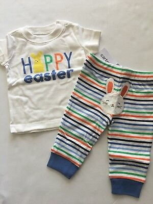 bc6325dba Carters Baby Boy Happy Easter Shirt Pants Set Outfit Size Newborn 3 6 Months