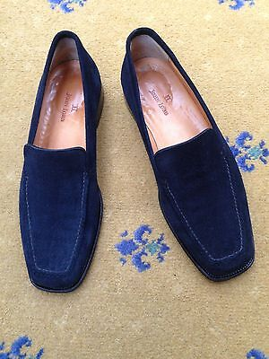 John Lobb Men's Blue Suede Loafers Shoes UK 8 US 9 EU 42 Moccasin