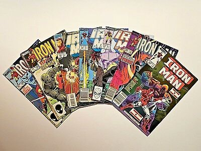 LOT OF 6 IRON MAN VOL. 1 #186 188 192  222 233 301 VINTAGE MARVEL Bob Layton